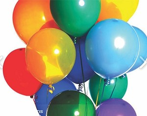 "1000, 12"" PLAIN ASSORTED BALLOONS."